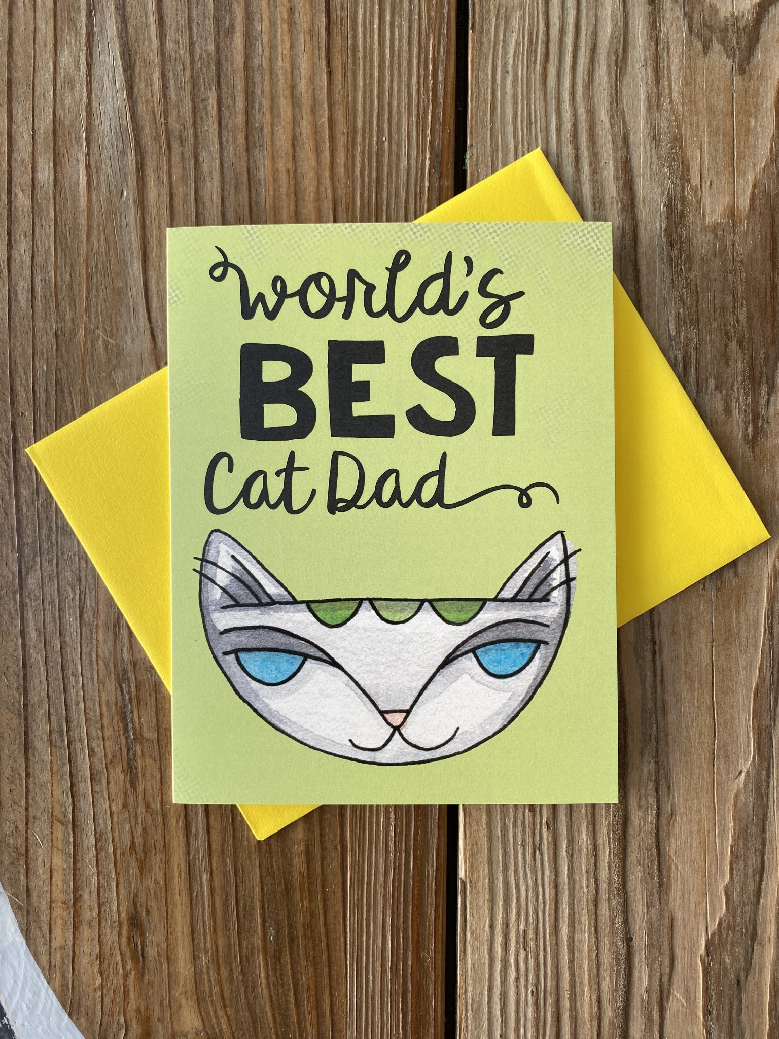 Cat People Press World's Best Cat Dad Greeting Card