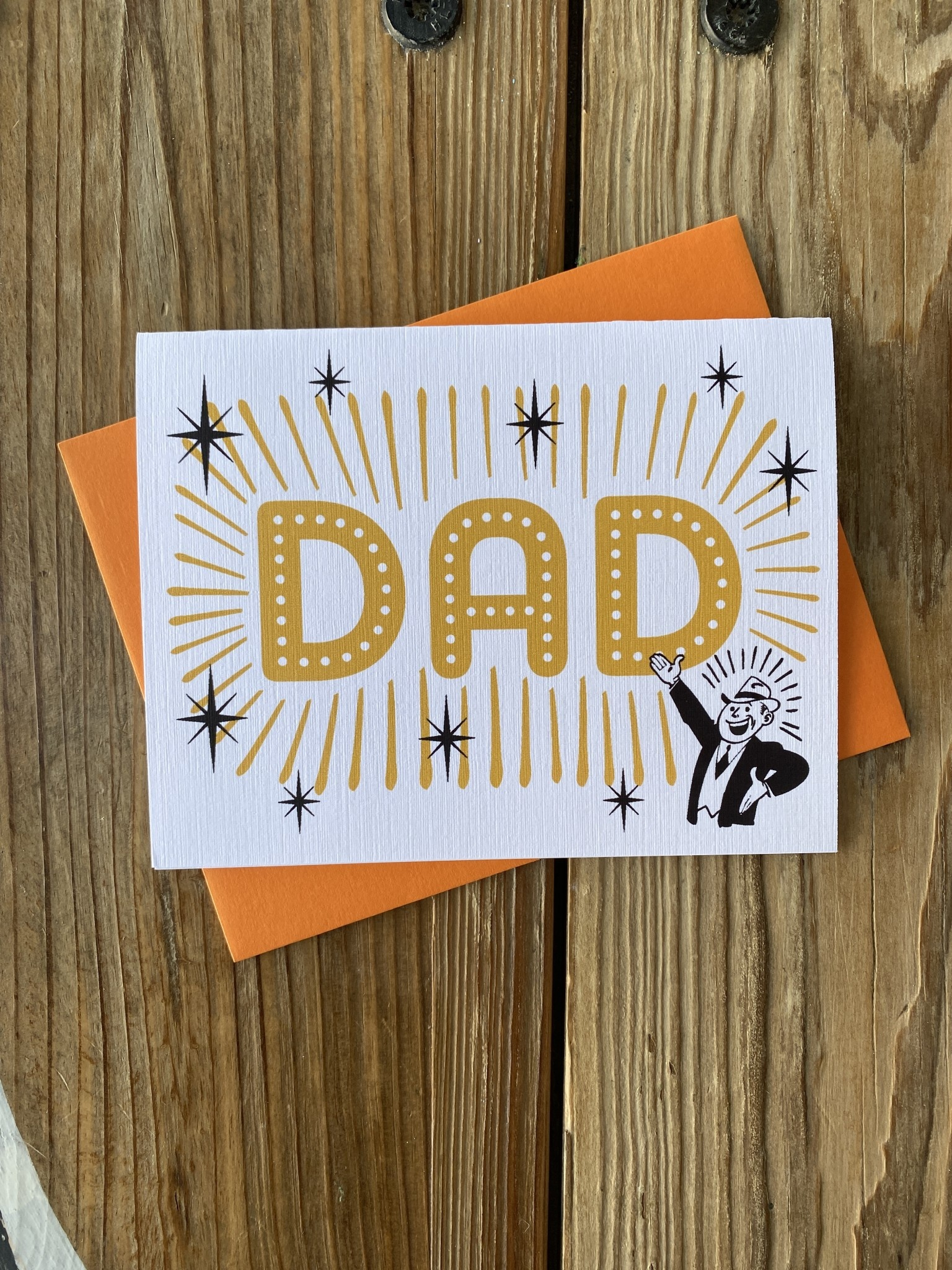Beckamade Dad in Lights Greeting Card