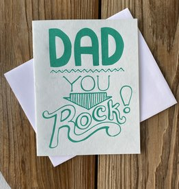 Exit343Design Dad You Rock! Greeting Card