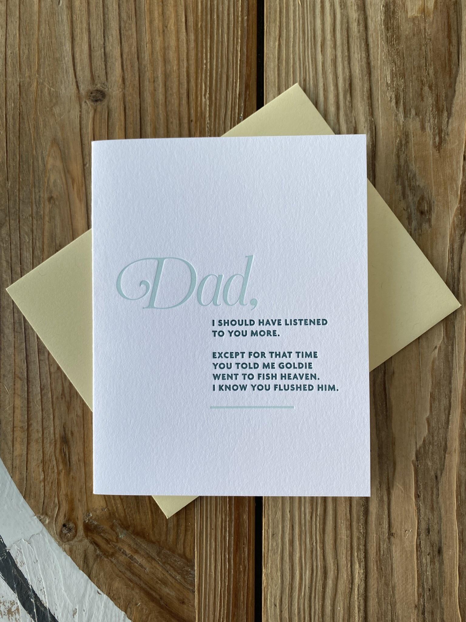 Iron Leaf Press Dad, Fish Heaven Listened Greeting Card