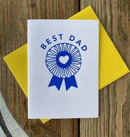 Exit343Design Best Dad Blue Ribbon Greeting Card