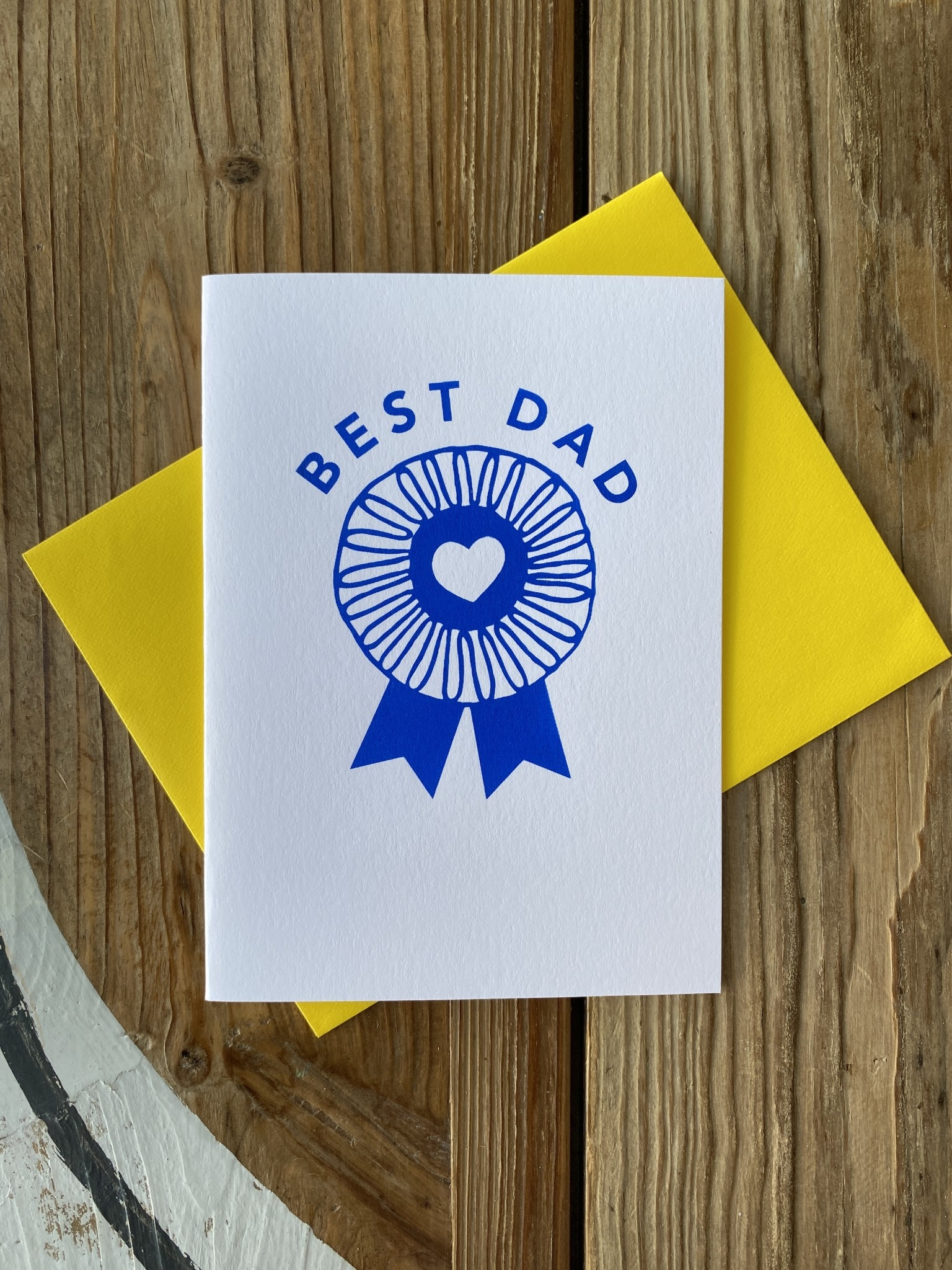 Exit343Design Best Dad Blue Ribbon Greeting Card