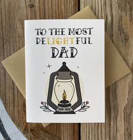 Box Berry Most Delightful Dad Lantern Greeting Card