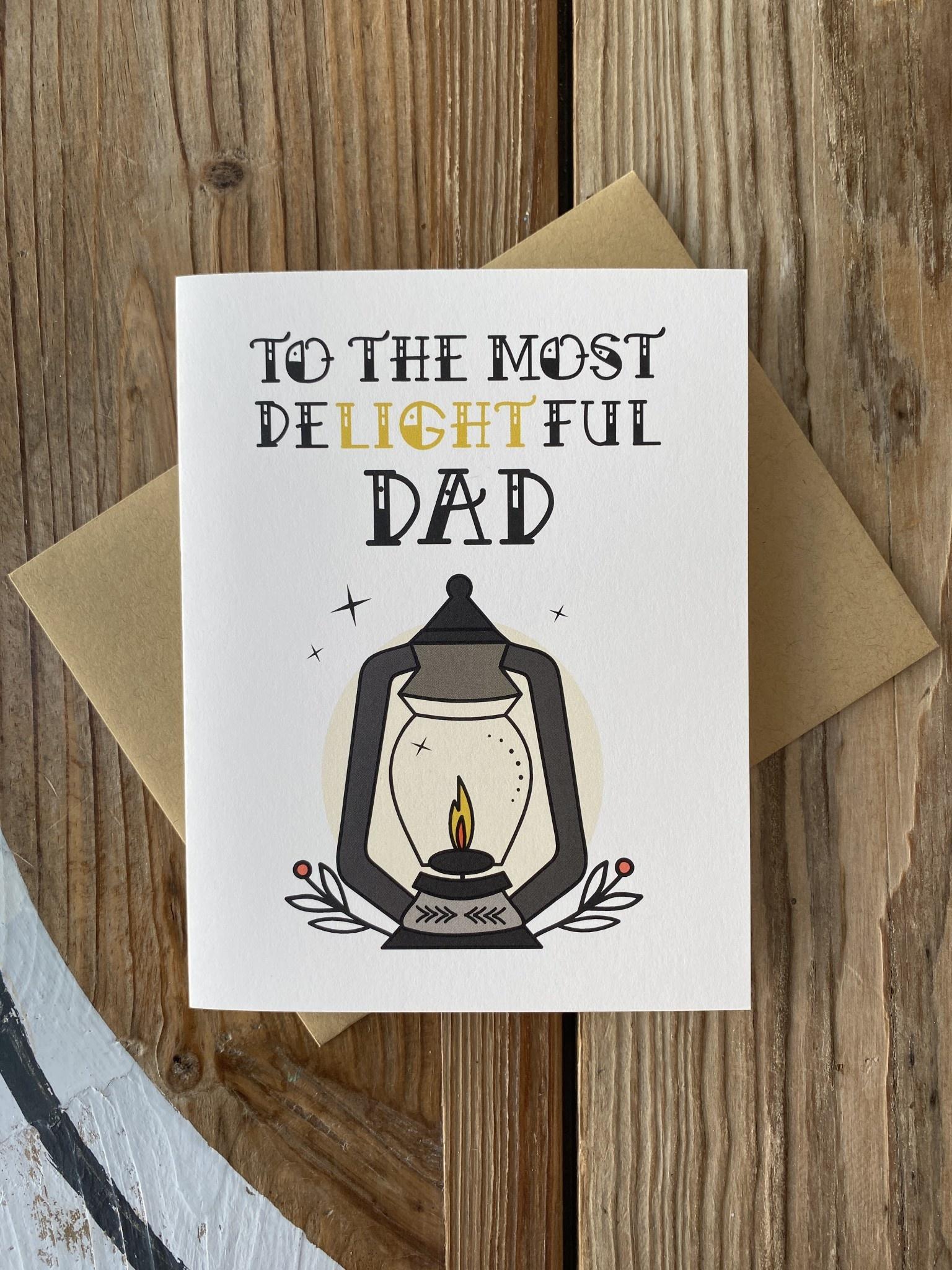 Box Berry Most Delightful Dad Lantern Greeting Card