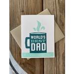 Igloo Letterpress World's Best Dad Mug Greeting Card