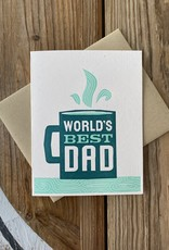Igloo Letterpress World's Best Dad Mug Greeting Card