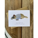 Paper Wolf Design Platypus Dad Greeting Card