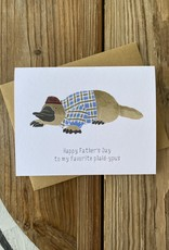 Paper Wolf Design Platypus Dad Greeting Card