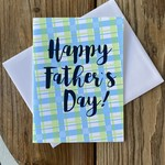Exit343Design Father's Day Plaid Greeting Card