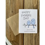 Lacelit Birds Sticking By You Father's Day Greeting Card