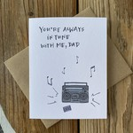 Lacelit Always In Tune To Me (Dad) Greeting Card