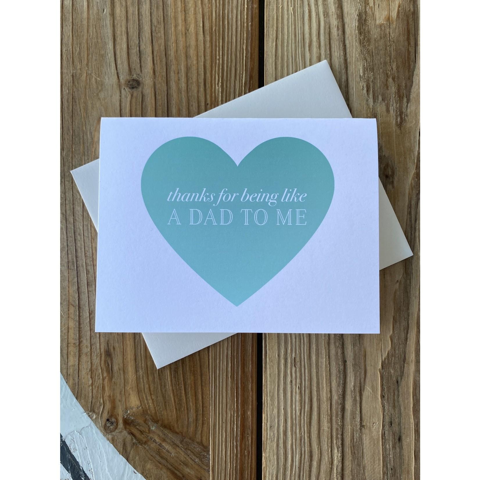 Pearl & Marmalade Like A Dad To Me Greeting Card