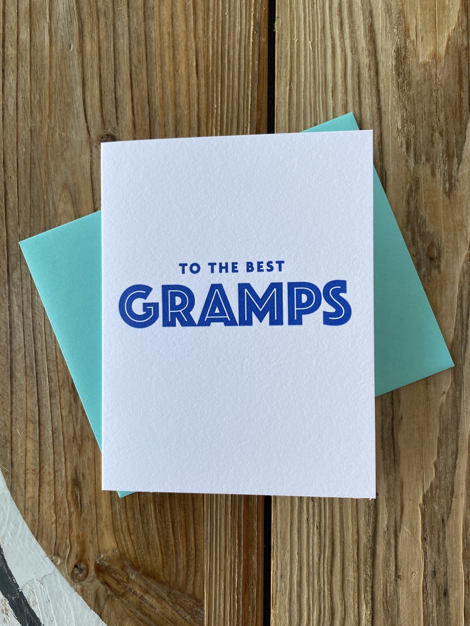 Iron Leaf Press Best Gramps Greeting Card