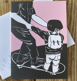 Nikki McClure Ditch The Car Papercut Notecard & Envelope