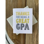 Haven Paperie Thanks For Being A Great GPA Grandpa Greeting Card