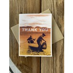 Arsenal Handicraft Canoe Thank You Greeting Card