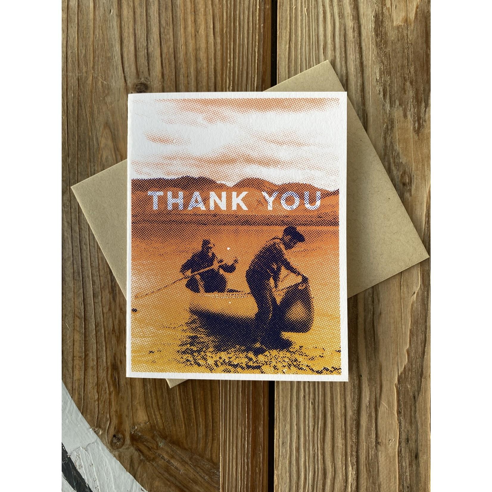 Arsenal Handicraft Canoe Thank You Greeting Card