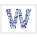 NOMO Design Icon Series: Wrigley Cubs Win Flag 11x14 Print
