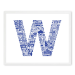 NOMO Design Icon Series: Wrigley Cubs Win Flag 11x14 Print