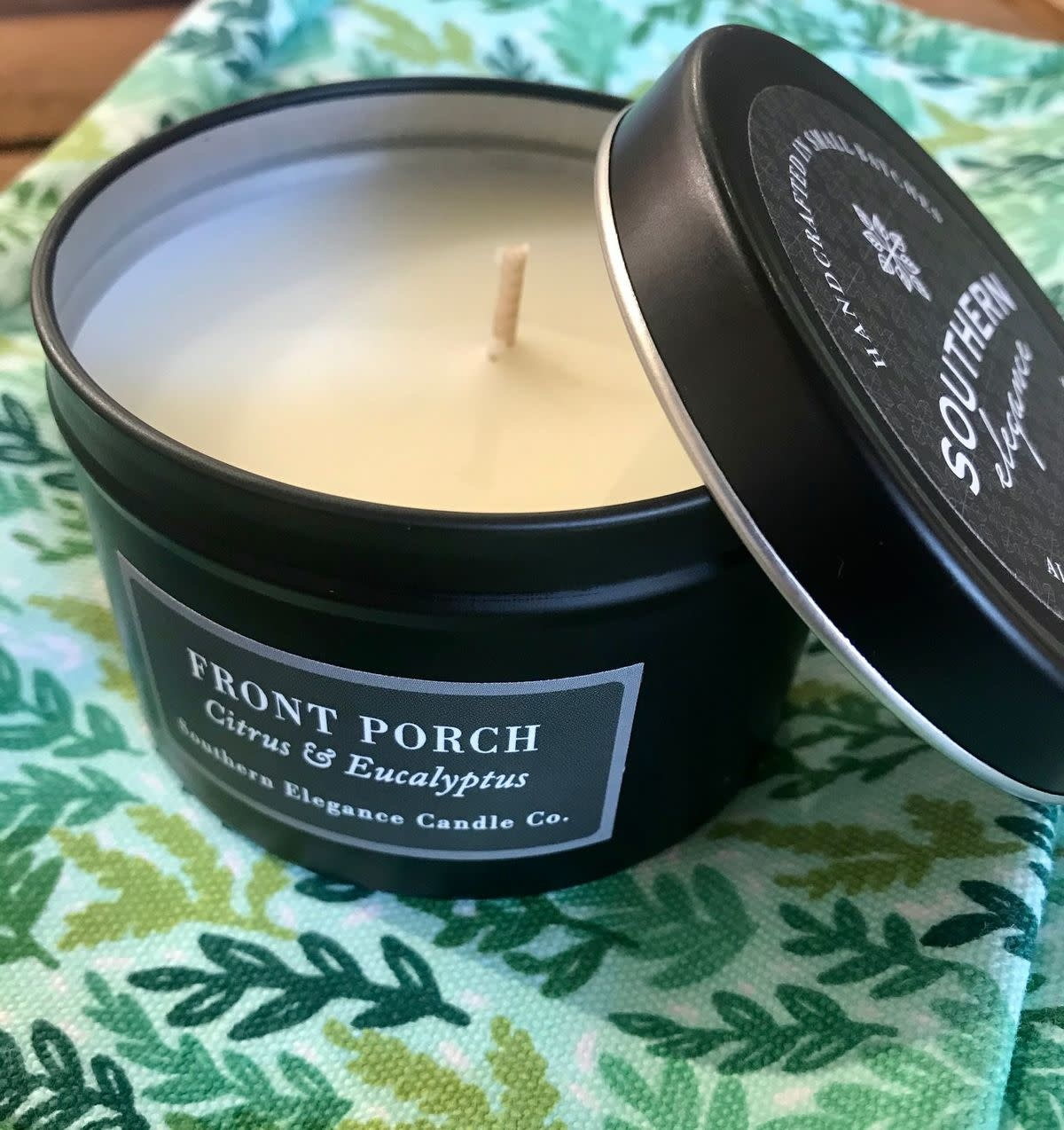 Southern Elegance Candle Co. (BO) Black Tin Candles