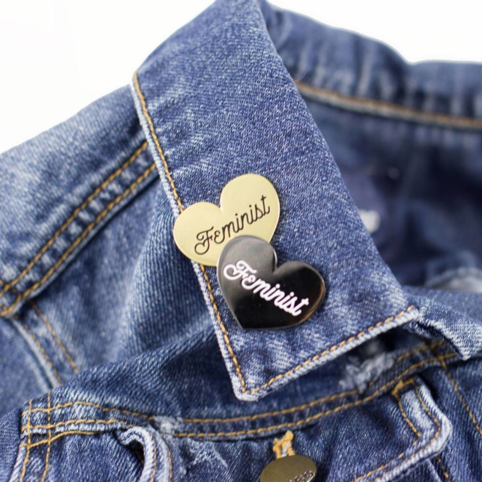 1606 / Sunset Avenue Ceramics Feminist Heart Enamel Pins