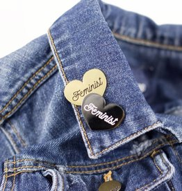 1606 // Sunset Avenue Ceramic Feminist Heart Enamel Pins