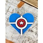 Jean Elise Designs Indianapolis Flag Heart Sticker