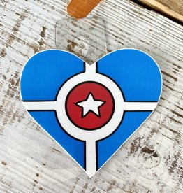 Jean Elise Designs Indianapolis Flag Heart Sticker