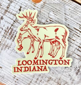 BadKneesTs Bloomington Deer Sticker