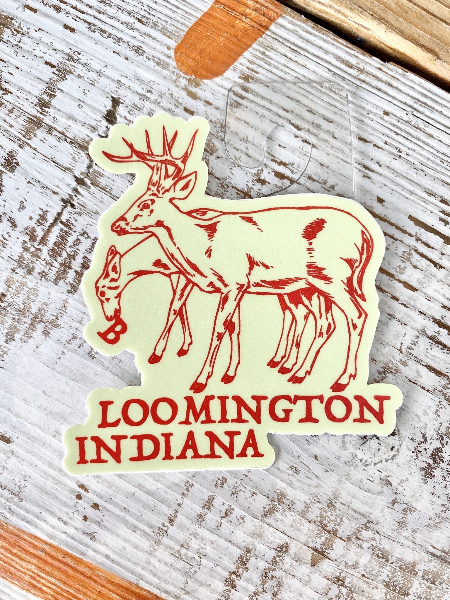 BadKneesTs Bloomington Deer Sticker