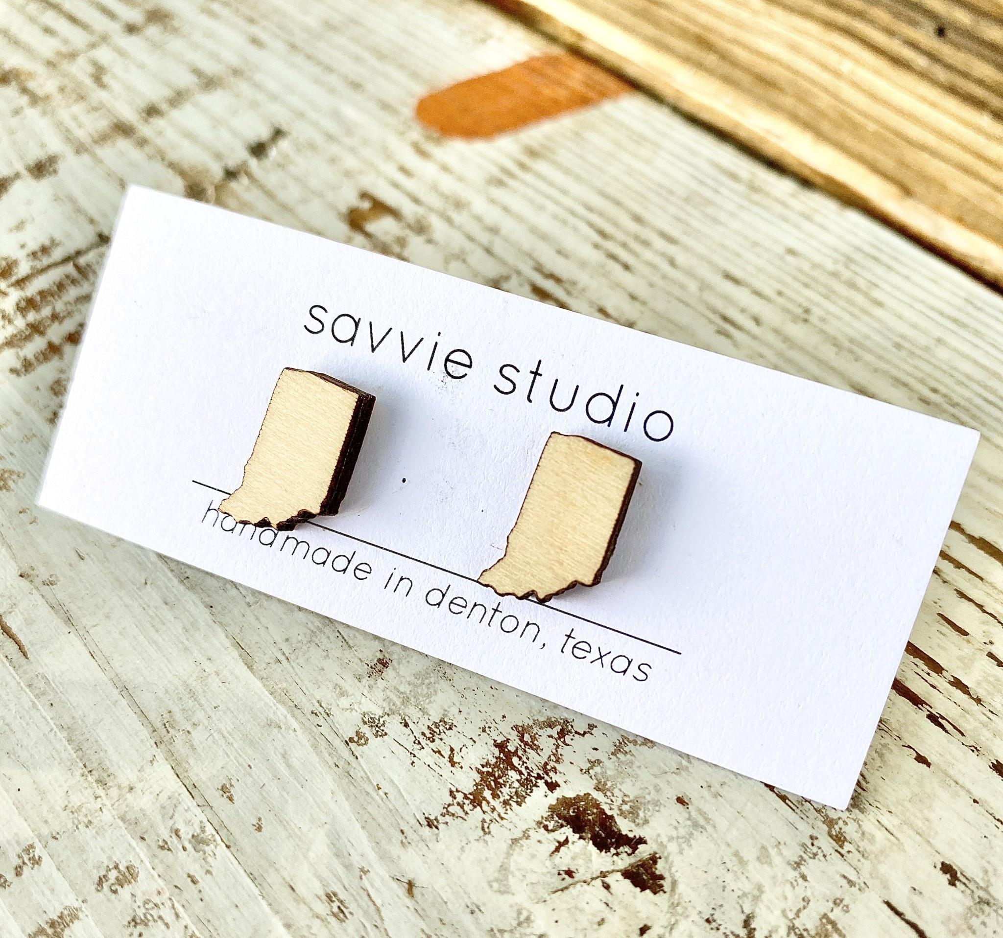 Savvie Studio Birch Indiana Post Earrings