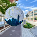 Paperfinch Design Circle Indianapolis Ceramic Ornament