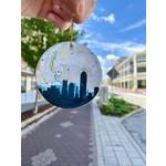 Paperfinch Design Circle Indianapolis Skyline Ceramic Ornament