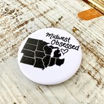 Fiber and Gloss Midwest Obsessed Pin-Back Button