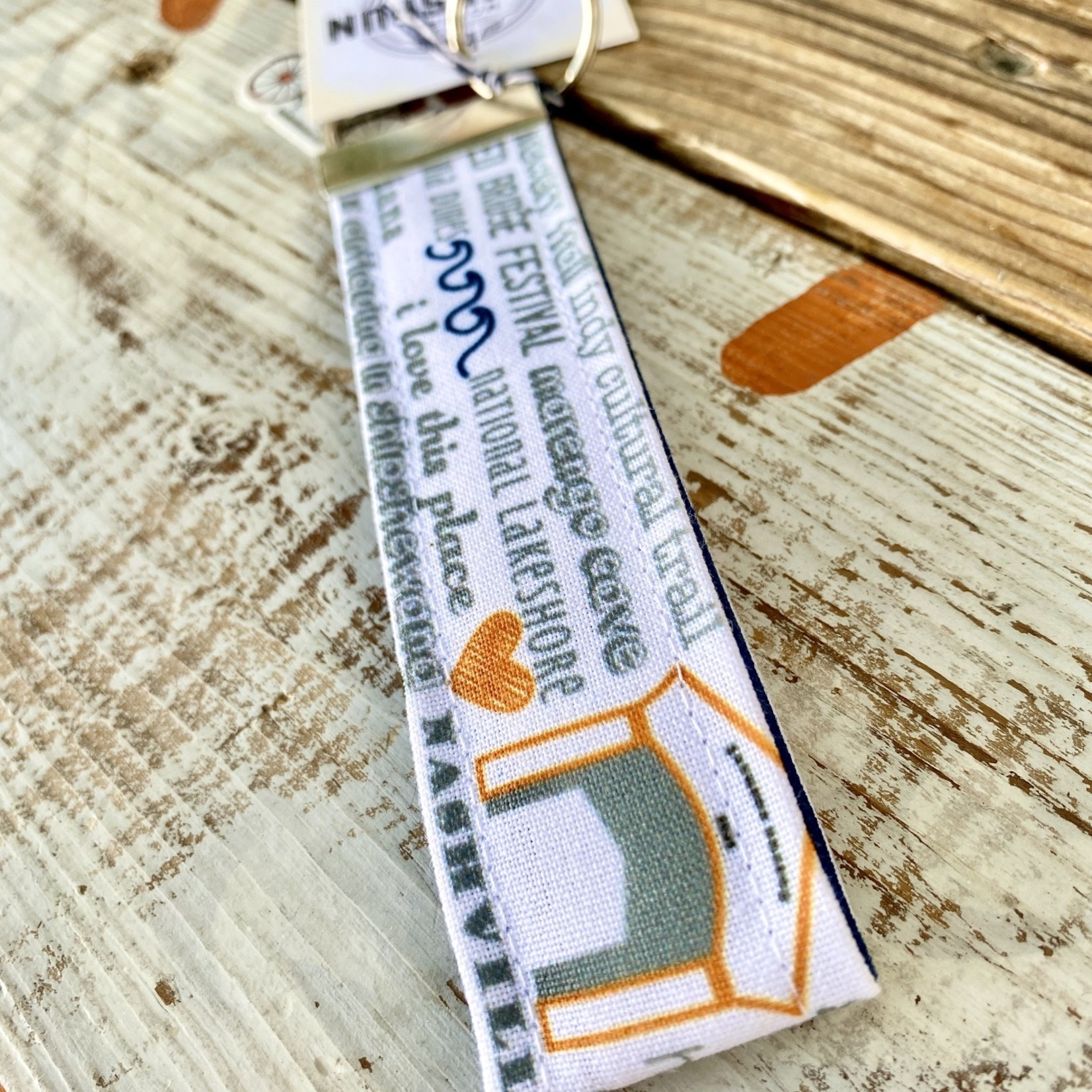 Tandem For Two / Gather Home Indiana Bucket List Key Fob