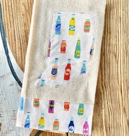 Hat & Rabbit Indiana Vintage Soda Tea Towel
