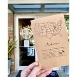 Blackbird Letterpress Indiana State Letterpress Notebook