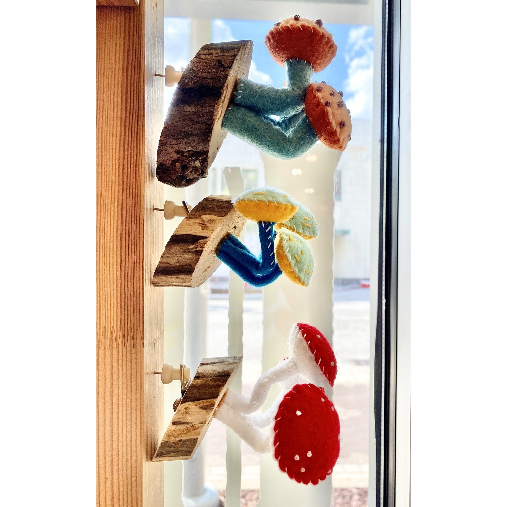 Close Call Studio Assorted Felt Wall Mushroom