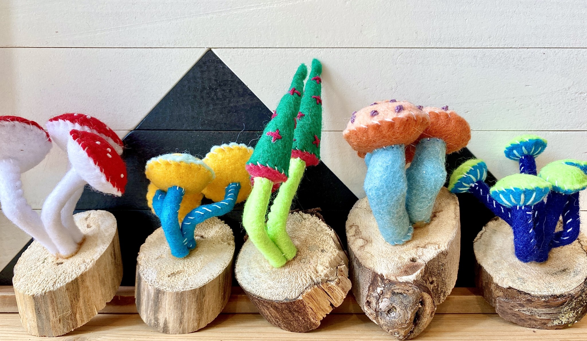 Close Call Studio Assorted Felt Wall Mushroom