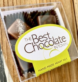 The Best Chocolate In Town Sea Salt Milk + Dark Caramels 4pc. Box