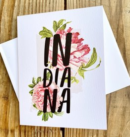 Paperfinch Design Vintage Indiana State Botanical Greeting Card
