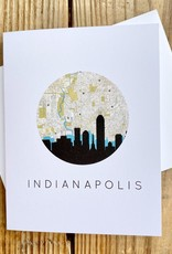 Paperfinch Design Circle Indianapolis Skyline Greeting Card