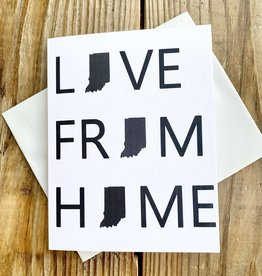 Fiber and Gloss Love From Home Indiana Greeting Card
