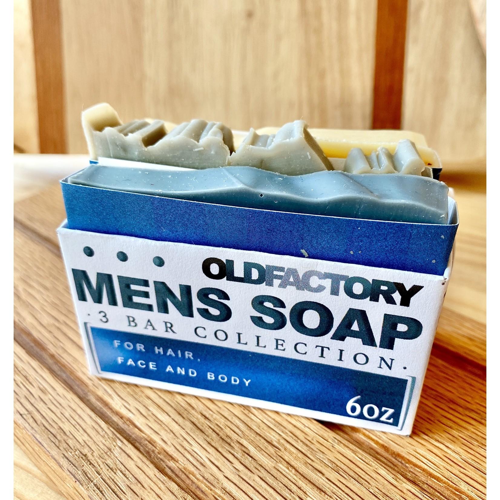 Old Factory Soap Company Men's Soap Sampler: 3 Bar Collection
