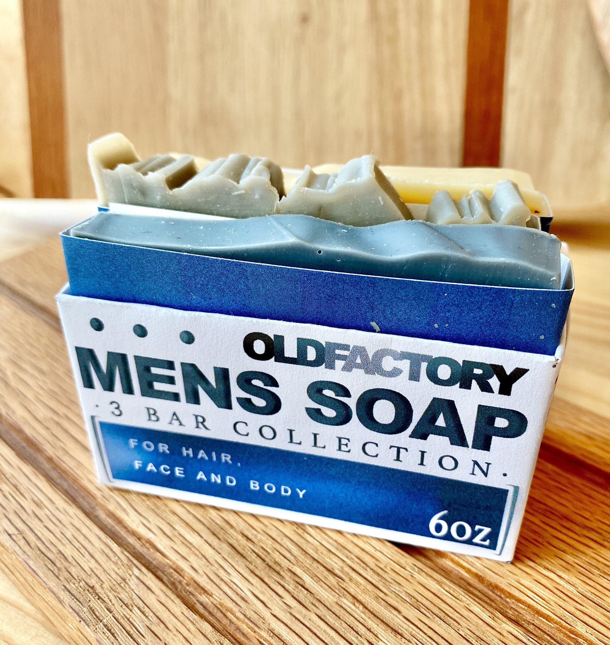 Old Factory Soap Company Men's Soap Sampler: 3 Bar Collection