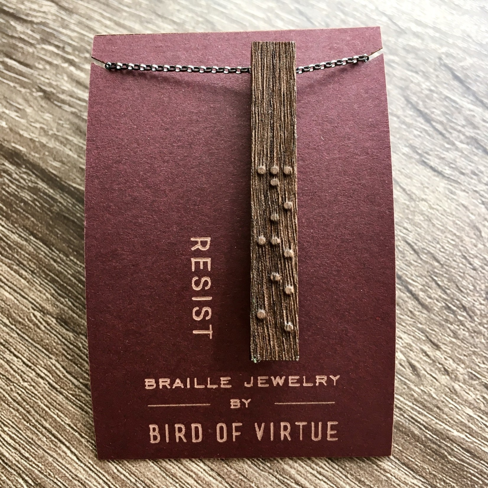 Bird of Virtue Unity Collection Braille Necklace