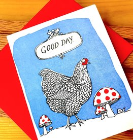 Big Wheel Press Good Day Hen Greeting Card