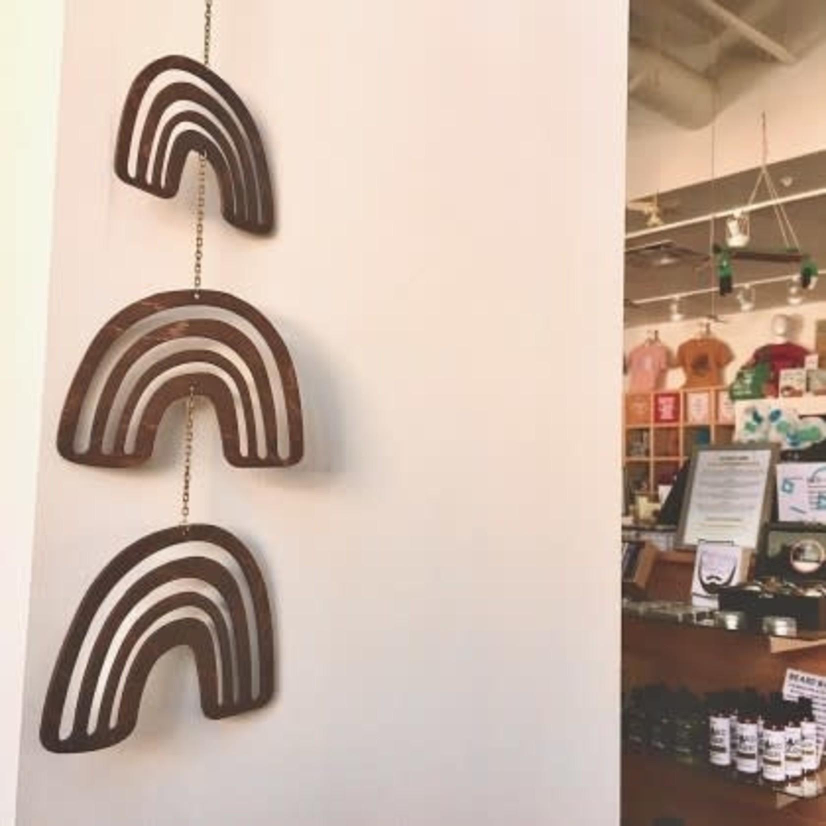 Savvie Studio Woodcut Rainbow Wall Mobile