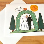 Kate Brennan Hall Illustration + Printmaking Wedding Day Arch Greeting Card