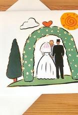Kate Brennan Hall Illustration + Printmaking Wedding Day Arch Greeting Card